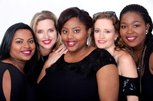 Heels Over Head are, from left, Rebekah Pillay , Mandy Cobbing, Thulile Zama, Chillie Stent – Wardell, Nomkhosi Mazibuko.
