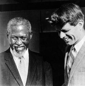 Chief Albert Luthuli and Robert Kennedy.