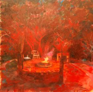 "Deidre Maree, ""#ZA - Good Times"", oil on canvas"
