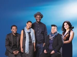 From left: Themba Mbuli, Siya Makuzeni, Mohau Modisakeng, Jade Bowers, and Avigail Bushakevitz_