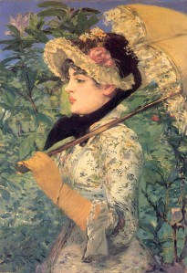 Spring (Study of Jeanne Demarsy) - Edouard Manet - WikiArt.org