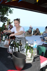 Wine flowed at the festival