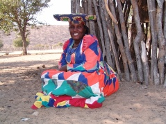 Herero woman in traditioinal attire