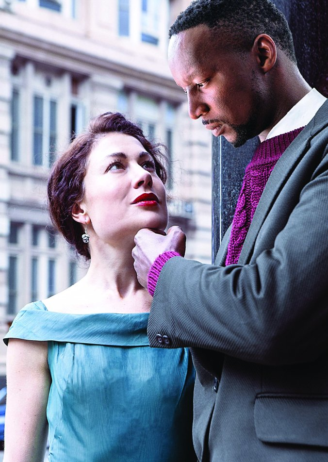 Crepsucle Nat Ramabulana plays Can Themba, with Kate Liquorish as his romantic partner in Crepuscule, presented by The Playhouse Company, 3 to 7 May 2017 at The Loft Theatre.