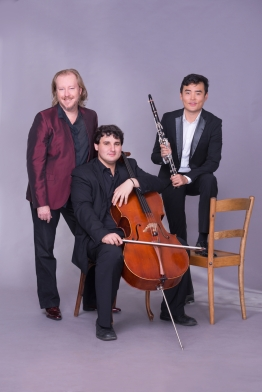 The Trio Frontier, from left, Christopher Duigan (piano), Aristide du Plessis (cello) and Junnan Sun (clarinet). Photo: Val Adamson