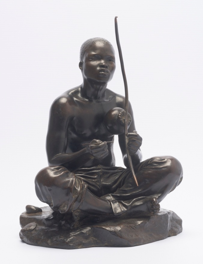 Anton van Wouw 'The Skapu Player' Bronze